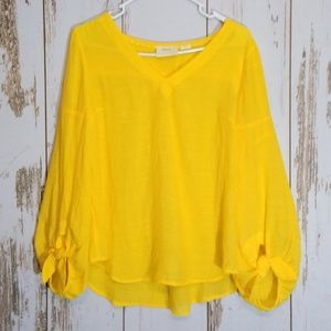 Maeve yellow blouse